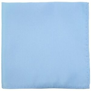 New Men's Polyester pocket square hankie only light blue prom wedding