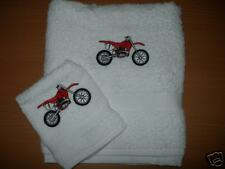 Personalised Motorcross Hand Towel & Face Cloth