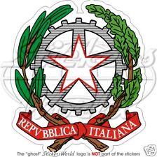 ITALIA Stemma UE Cresta Repubblica Italiana Adesivo in Vinile per Auto Sticker