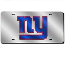 New York Giants Mirrored Laser Cut License Plate Laser Tag