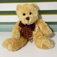 Teddy & Friends Brown Teddy Bear with Dark Brown Bow Plush Toy 18cm Tall!