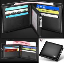 Men Wallet real Cow Leather short Bifold Card Septwolves Purse black 1334521-01