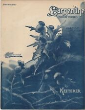 L'argentine (Silvery Tistle) Beaux Arts Edition, 1907, vintage sheet music