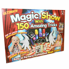 Ultimate Magic Show With 150 Amazing Tricks Kids Magician Full Set Wand Cards 57