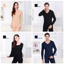 2Pcs Unisex Thermal Underwear T-Shirt+Long Pants Winter Warm Clothes Fashion