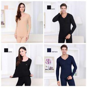 2Pcs Unisex Thermal Underwear T-Shirt+Long Pants Winter Warm Clothes Fashion#