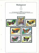 TIMBRE STAMP ZEGEL MADAGASCAR  SUPERBE SERIE PAPILLONS BUTTERFLY
