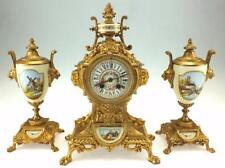 Victorian Gilt Antique Mantel & Carriage Clocks (Pre-1900)