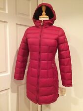 Michael Kors Lightweight 3/4 Coat Jacket Packable Down Hood Dark Red PS $240