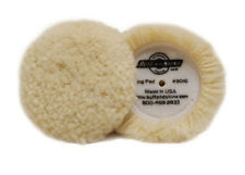"**2-PACK**  Buff and Shine 3"" Wool Compound Buffing Pad w/ Hook-It Backing"