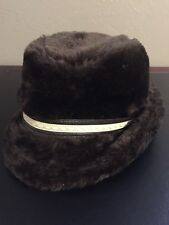 Faux Fur Plush German Fedora Style Hat PreOwned 79004a5c7c9a