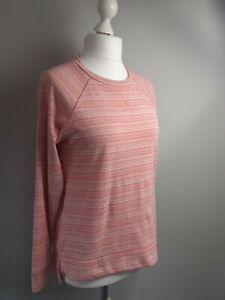 Champion Ladies Authentic Athletic Apparel Stripe Marl Pink Sweatshirt Size S