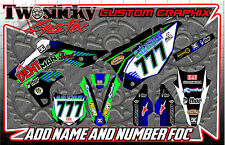 KAWASAKI KFX KX 125/150/250/450  MOTOCROSS MX GRAPHICS STICKERS   ALL YEARS