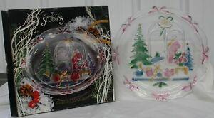 "Retired Crystal Clear Studios 1992 Christmas Joy 14"" Round Platter #312230"