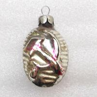 Antiker Russen Christbaumschmuck Glas Weihnachtsschmuck Ornament Hammer & Sichel