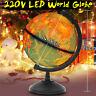 Iluminación del mundo mapa globo lámpara de escritorio LED noche luz hogar dormi