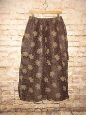 Unisex Wide Leg Pants Elastic Brown Leaf Leaves Tribal Ethnic Cosume Sheer