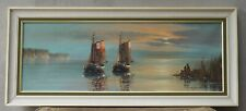 Large Mid Century Oil Painting by Artist Gerold Eggert