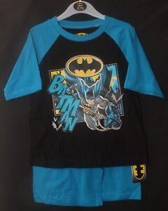 Boy's BATMAN Shorty PJs /Pyjama Shorts Set /Summer  PJs  in Sizes 4-10 years