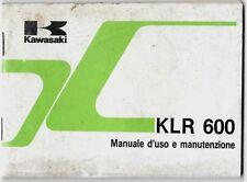 1984-85 KAWASAKI KLR 600 manuale uso e manutenzione originale italiano