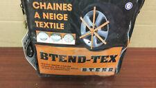 2 CHAINES CHAUSSETTES A NEIGE TEXTILE PNEU 175/55 R15 marque BTEND TEX