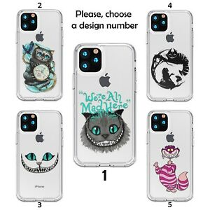 Cheshire Cat case for iPhone 12 11 Pro Max XR SE X XS 8 7 silicone SN