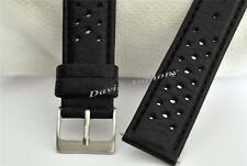 GRAND PRIX LEATHER WATCH STRAP. COMPATIBLE WITH HEUER 1964 CARRERA RE-EDITION