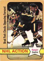 1972-73 O-Pee-Chee #85A Brad Park NHL Action Centre New York Rangers