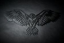 Hansmeier | Adler-Wanddeko aus Metall | 80 x 35 cm | Adler Metalldeko
