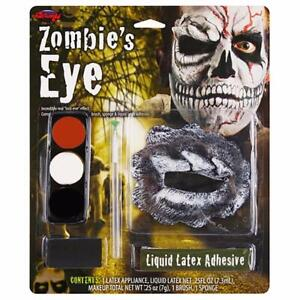 Fun World Zombie's Eye Theatrical Halloween Make Up Kit Latex 7 Piece New