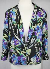 Elizabeth & James Floral Print 3/4 Sleeve Silk Blazer Size 4 (Fits AU Size 10)