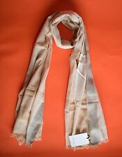Paul Smith Camel Striped Cotton Scarf BNWT RRP£120
