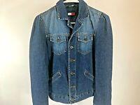 Rare Vintage Women's TOMMY HILFIGER Denim Jean Jacket size Small  flag