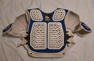 Vintage 80's O'neal USA Motocross Chest Protector Rok Jacket Adult One Size Blue