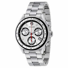 MOVADO 2600132 CHRONO 800 SILVER SUNBURST DIAL STAINLESS STEEL SWISS MOVEMENT!