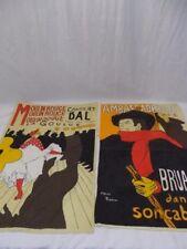 Moulin Rouge Concert Bal and Ambassadeurs Drape Prints d'apres Flautrea Vintage