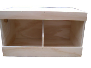 """Chicken nest boxes - double size 21"""" x 12"""" x 13"""" Coop Nest box Chickens / Hens"""