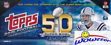 2015 Topps Football SPECIAL LIMITED EDITION 50th SUPER BOWL 500 Card Factory Set