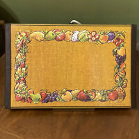 Vintage MCM Electric Food Warming Tray Warm O Tray Gold with Fruit Border Retro