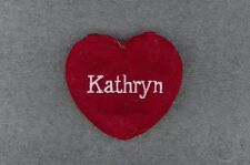 KATHRYN Red Felt Heart Ornament Valentine's Day + Christmas + Crafts + Gift Tag