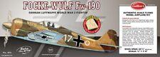 Guillows Focke Wulf Fw-190 1 16 Balsa Flying Scale Model Kit 406LC Laser Cut