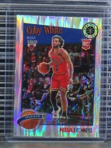 2019-20 Hoops Premium Stock Coby White Tribute Flash Prizm Rookie RC #295 I88