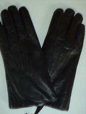 Ladies Fownes 100% Rabbit Fur lined Leather Gloves,Black, XLarge