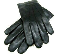 Coach Men's Black Sheepskin Leather Tech Gloves Size Medium Wool Lined F54182