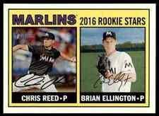 2016 Topps Heritage Chris Reed / Brian Ellington RC #169 Miami Marlins