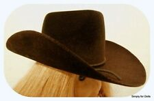 """BROWN Western COWBOY DOLL HAT fits 18"""" AMERICAN GIRL Doll Clothes Accessory"""
