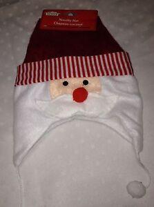 Santa Hat Photo Prop Unisex Infant Baby Novelty Christmas Cap 3-6 / 6-9 Months