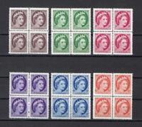 Canada 1954 Sc# 337-42 Elizabeth II blocks 4 MNH