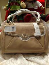 NWT Coach Madison Madeline Lizard Emb Leather Handbag Shoulder Bag 26325 Tan
