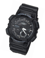 Casio Men's 'Classic' Quartz Stainless Steel and Resin Casual Watch, Color:Black